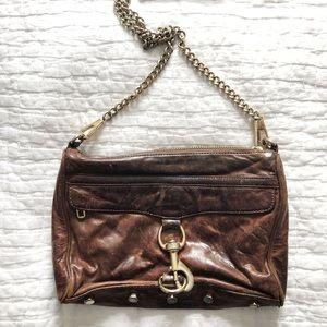 Rebecca Minkoff Brown Leather MAC Crossbody Bag